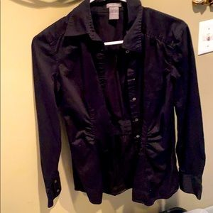Ann Taylor blouse with ruching